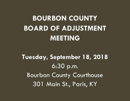 Bourbon County BOA Announcement