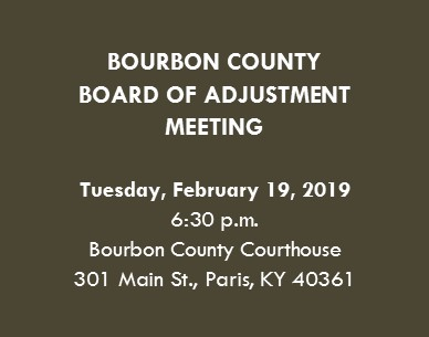 BOA Meeting Announcements